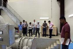 建設中の笹ヶ峰小水力発電所を視察