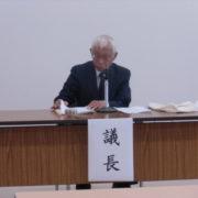 議事進行をする町田議長