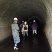 川上繰穴隧道の中の様子
