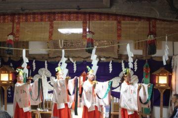 平成30年8月27日宇賀神社代表参浦安の舞奉納の様子