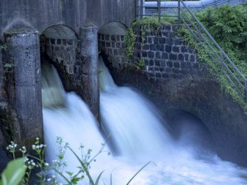 上江用水分水池
