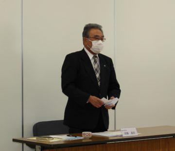 R2.3.26 第30回通常総代会で挨拶する齋藤理事長